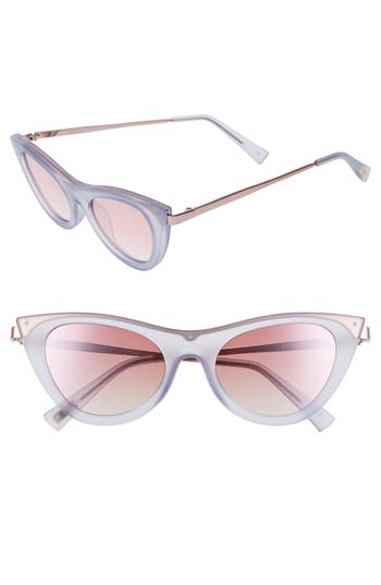 Le Specs Enchantress 4m Retro Sunglasses - Blue Quartz