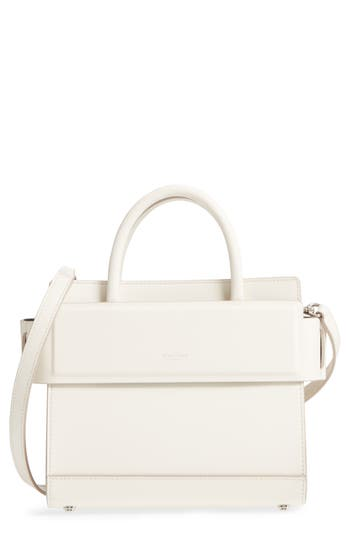 Givenchy Mini Horizon Calfskin Leather Tote - Ivory