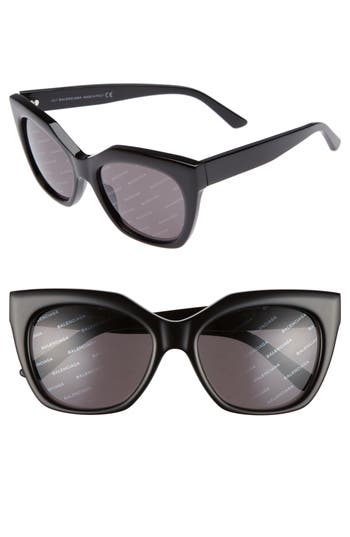 Women's Balenciaga 54Mm Cat Eye Sunglasses -