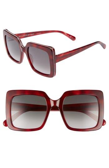 Stella Mccartney 5m Square Sunglasses - Burgundy/ Avana/ Green