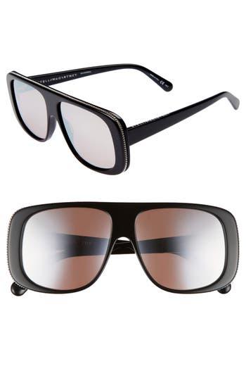 Stella Mccartney 57Mm Flat Top Sunglasses - Black