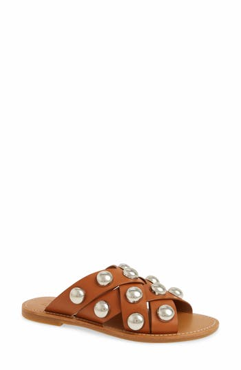Marc Fisher Ltd Raidan Studded Sandal, Brown