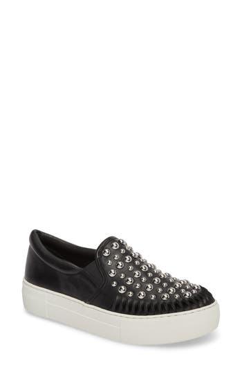 Jslides Azt Studded Slip-On Sneaker, Black