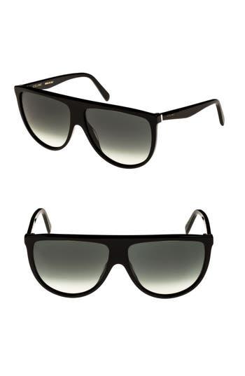 Celine 62Mm Pilot Sunglasses - Black/ Green