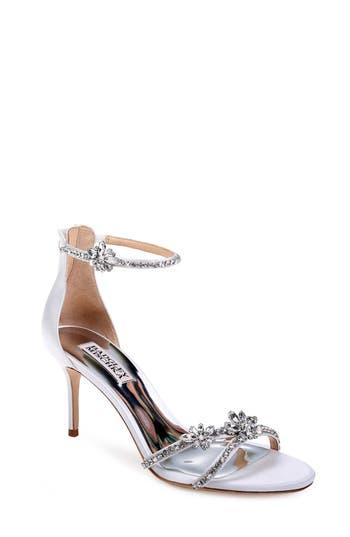 Badgley Mischka Hobbs Ankle Strap Sandal, White
