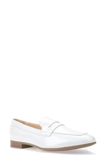 Geox Marlyna Penny Loafer - White