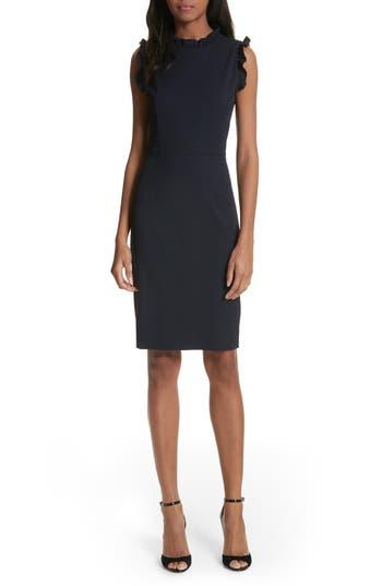 Rebecca Taylor Spring Ruffle Dress, Blue