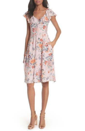 Rebecca Taylor Marlena Ruffle Silk Dress, Pink