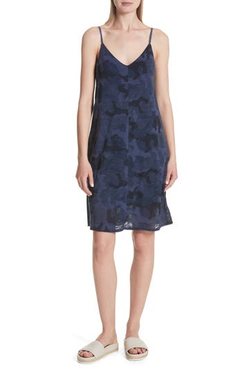Atm Anthony Thomas Melillo Camo Print Slipdress, Blue