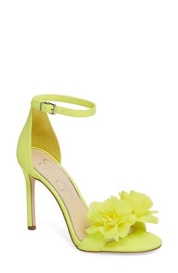 Jessica Simpson Jeena Embellished Ankle Strap Sandal- Yellow