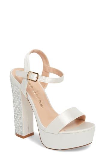 Women's Lauren Lorraine Carly Platform Sandal, Size 9 M - Ivory