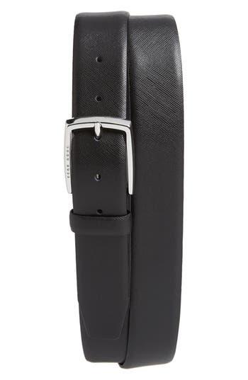 Boss Celie Saffiano Leather Belt, Black