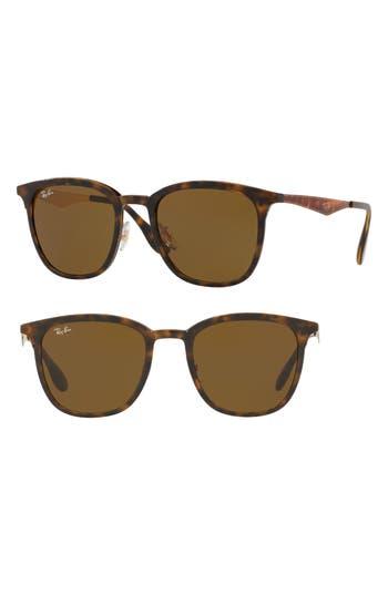 Ray-Ban Highstreet 51Mm Square Sunglasses - Havana