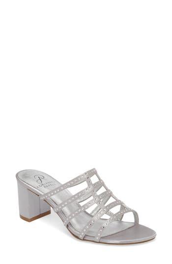 Adrianna Papell Apollo Block Heel Sandal, Metallic