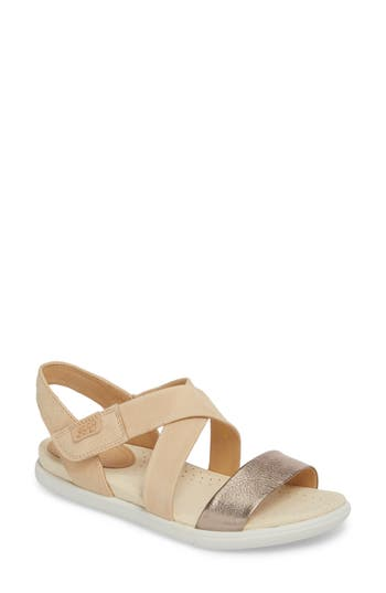 Ecco Damara Cross-Strap Sandal, Grey