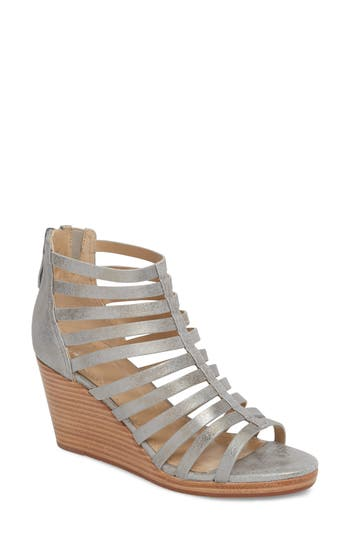 Johnston & Murphy Geneva Strappy Wedge Sandal- Metallic