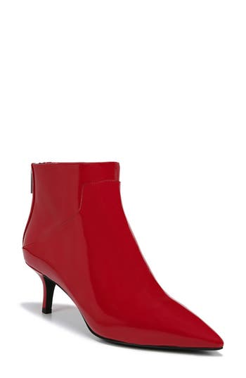 Via Spiga Madilyn Pointy Toe Bootie, Red
