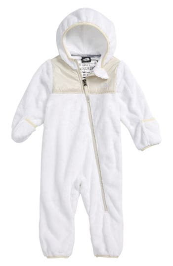 Infant The North Face Oso Hooded Fleece Romper, White