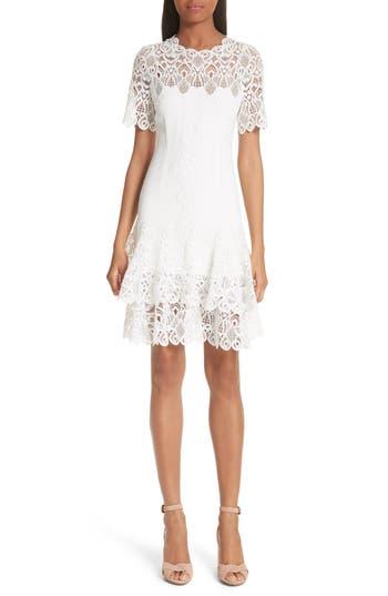 Jonathan Simkhai Mixed Media Lace Mini Tee Dress