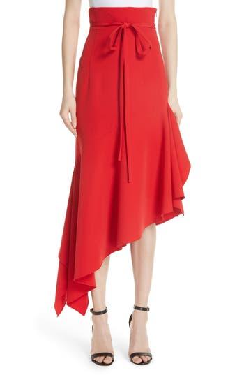 Italian Cady Maxi Skirt, Scarlet