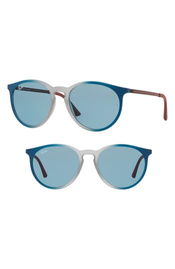 Ray-Ban Youngster 5m Round Sunglasses - Light Blue Solid