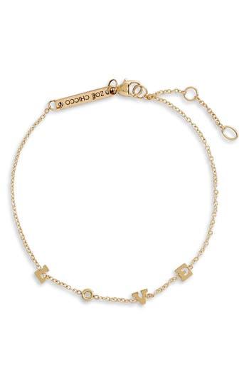 Zoe Chicco Tiny Diamond Love Station Bracelet