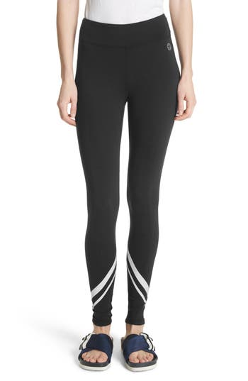 Tory Sport Chevron Leggings, Black