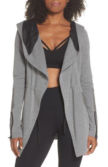 Blanc Noir Traveler Wrap Jacket, Grey
