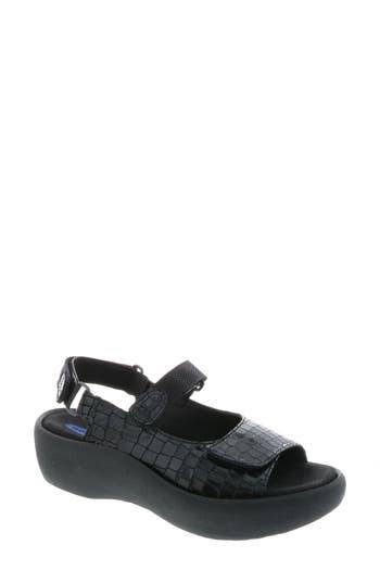 Women's Wolky Jewel Sport Sandal, Size 7-7.5US / 38EU - Black