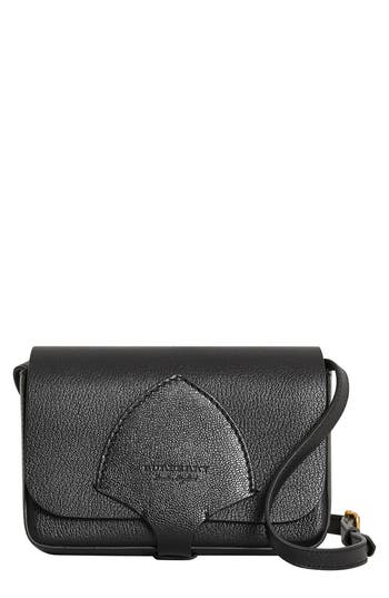 Burberry Hampshire Leather Crossbody Bag - Black