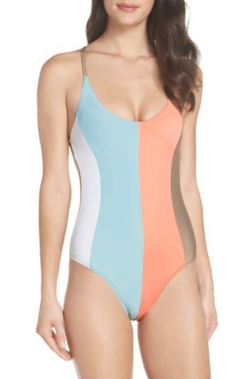 Pilyq Farrah Stripe One-Piece Swimsuit, Blue