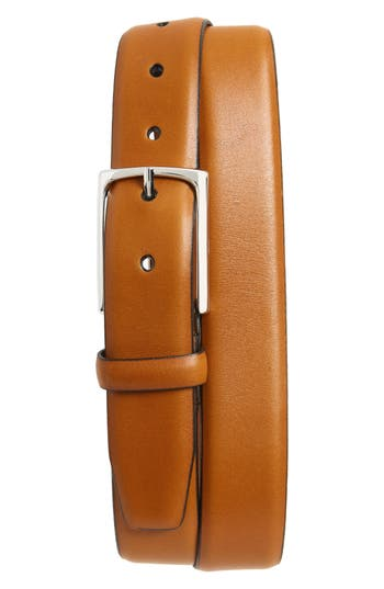 Big & Tall Nordstrom Shop Pullman Leather Belt, Cognac