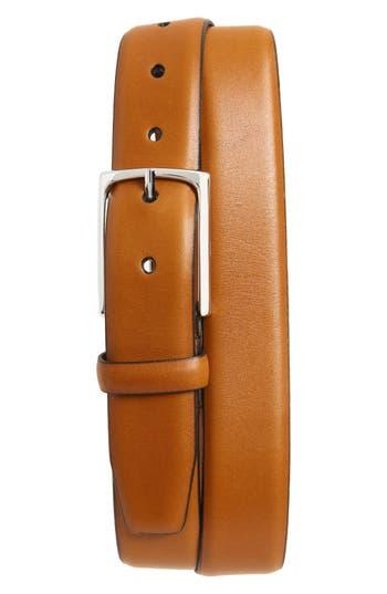 Big & Tall Nordstrom Shop Pullman Leather Belt, Cognac