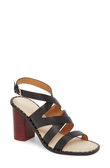 Joie Onfer Studded Strappy Sandal, Black