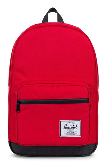 HERSCHEL SUPPLY CO. 'POP QUIZ' BACKPACK - RED, BARBADOS CHERRY / BLACK