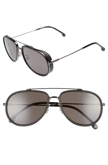 Carrera Eyewear 5m Polarized Aviator Sunglasses - Dark Ruthenium/ Gray Blue