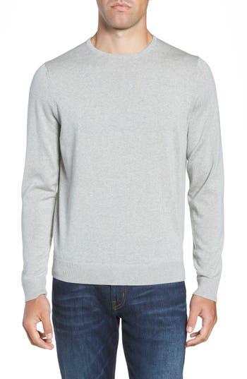 Big & Tall Nordstrom Shop Crewneck Merino Wool Sweater, Grey