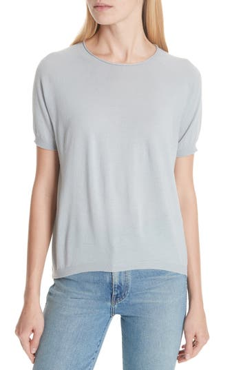 Christian Wijnants Short Sleeve Merino Sweater, Grey
