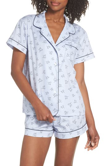 Ed Ellen Degeneres Pinstripe Short Pajamas, Blue