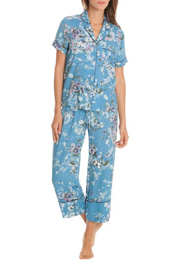 In Bloom By Jonquil Crop Pajamas, Blue