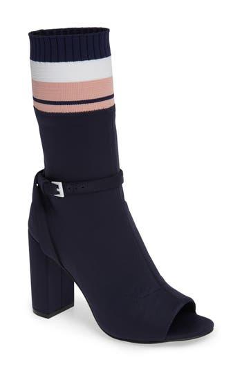 Jeffrey Campbell Nila-2 Sock Bootie, Blue