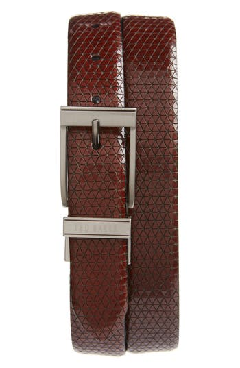 Ted Baker London Tatti Reversible Leather Belt, Chocolate