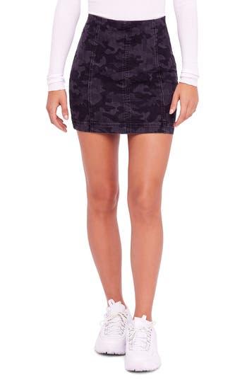 We The Free By Free People Modern Femme Denim Skirt, Black