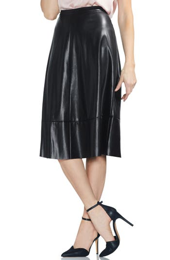 Vince Camuto Faux Leather Skirt, Black