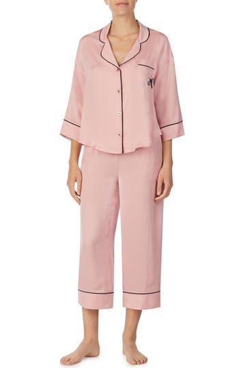 Room Service Crop Pajamas, Pink