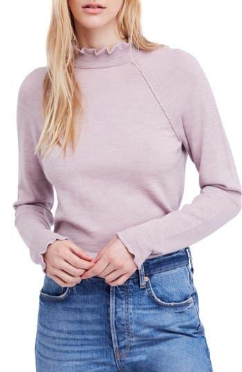 Free People Needle & Thread Merino Wool Sweater, Purple