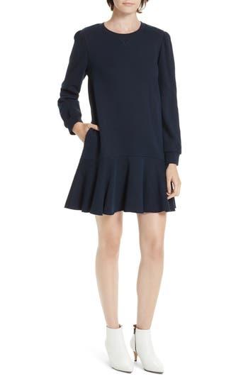 La Vie Rebecca Taylor Long Sleeve Fleece Mini Dress