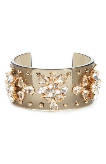 J.crew CRYSTAL STUDDED LUCITE CUFF BRACELET