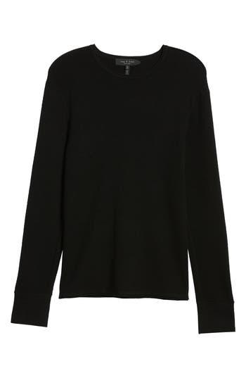 Rag & Bone Gregory Merino Wool Blend Crewneck Sweater, Black