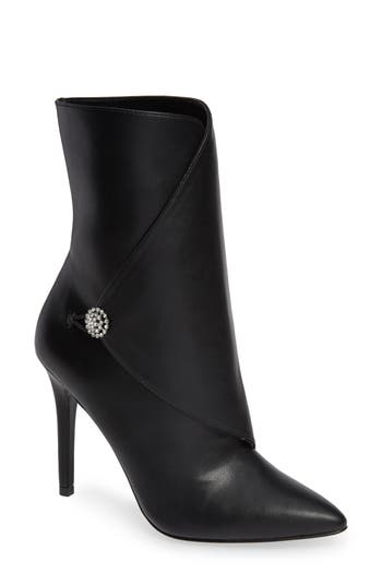 Charles By Charles David Pistol Crystal Embellished Pointy Toe Bootie, Black